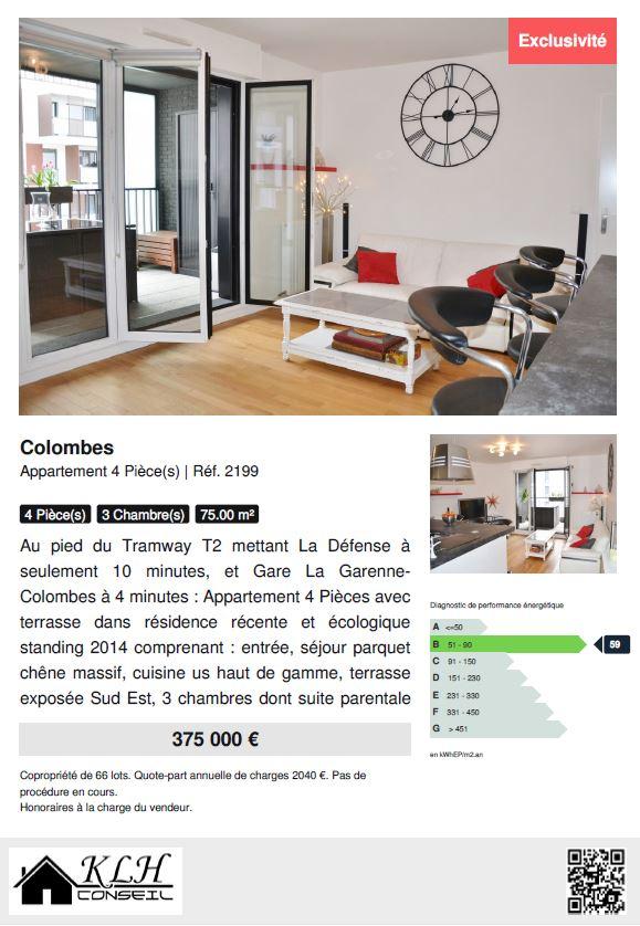 Maison vendre colombes 10 id es pour soigner votre for Fiche technique construction maison