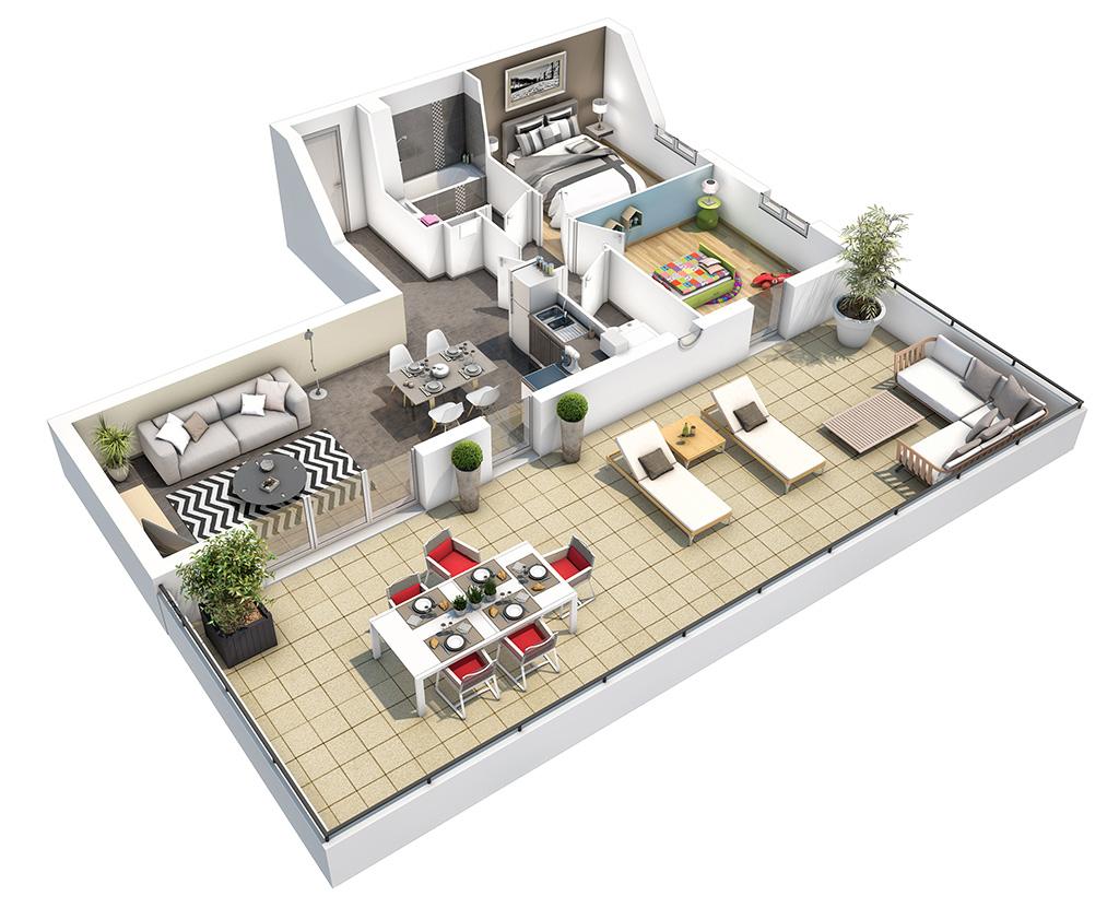 le nombre de pi ces d 39 un logement colombes la petite garenne. Black Bedroom Furniture Sets. Home Design Ideas
